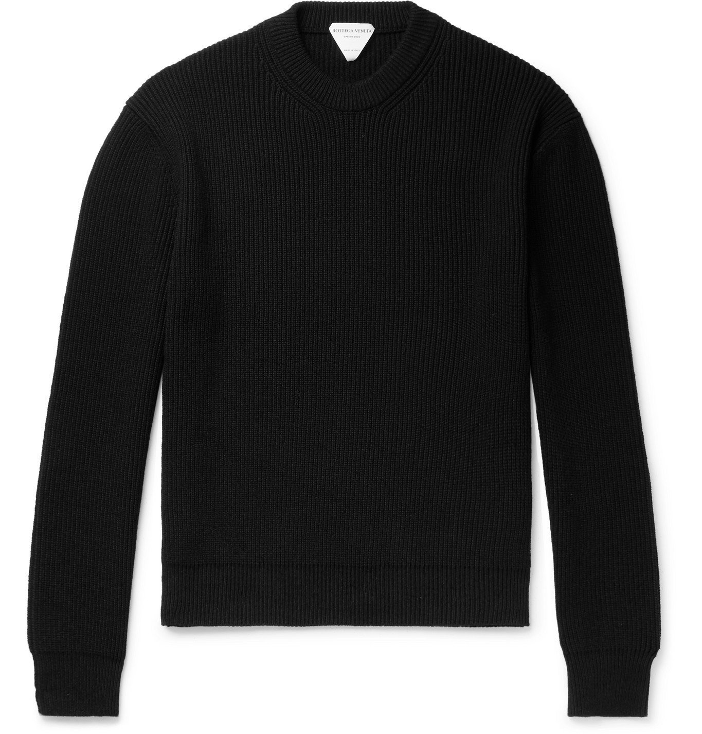 Photo: Bottega Veneta - Ribbed-Knit Sweater - Black
