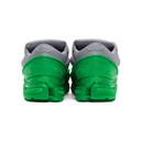 Raf Simons Green and Grey adidas Originals Edition Ozweego Sneakers