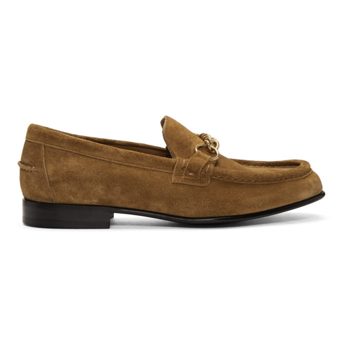 Photo: Burberry Brown Suede Solway Loafers