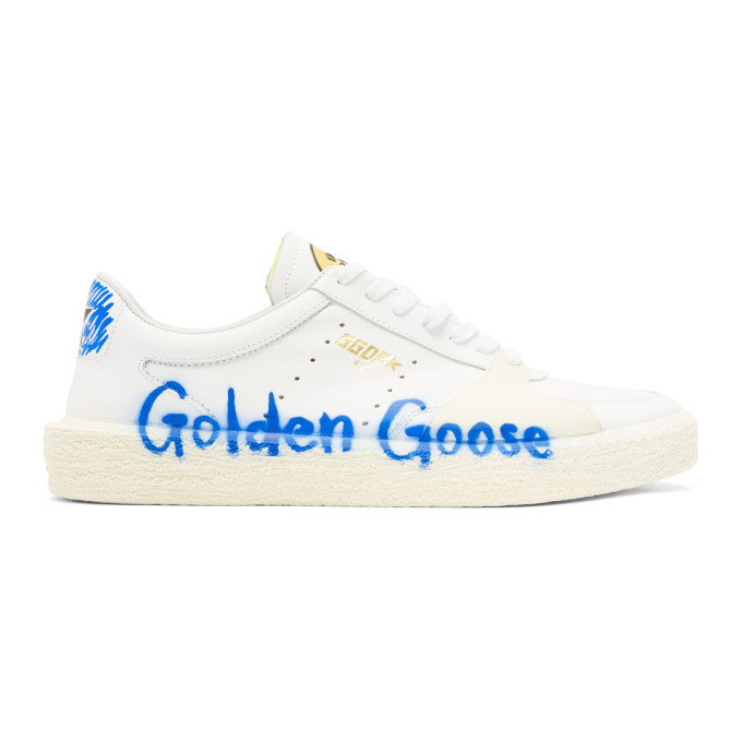 Photo: Golden Goose White Tenthstar Bluette Sneakers