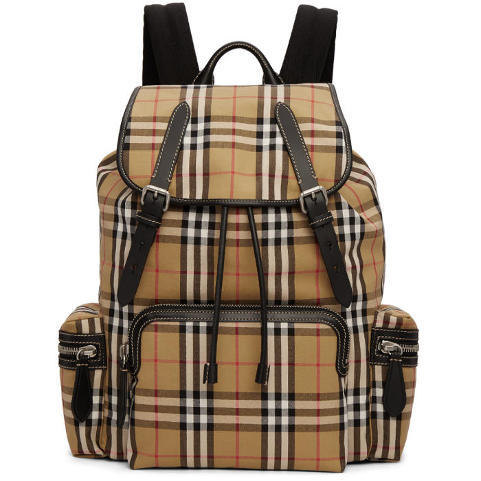 Photo: Burberry Tan Check Rucksack