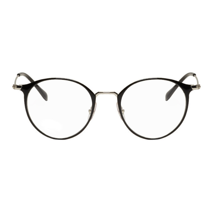 Photo: Ray-Ban Black and Silver Round RB6378 Glasses