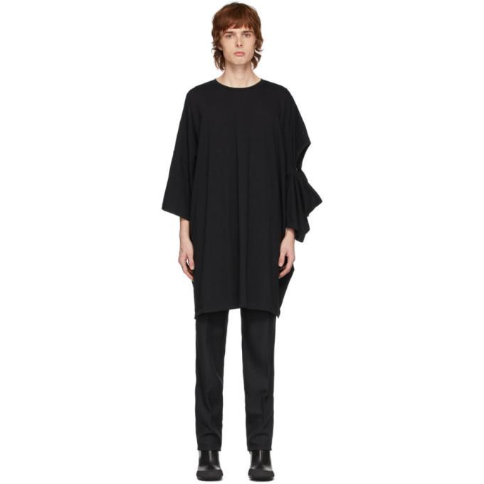 Photo: Random Identities Black Oversized Cut-Out T-Shirt