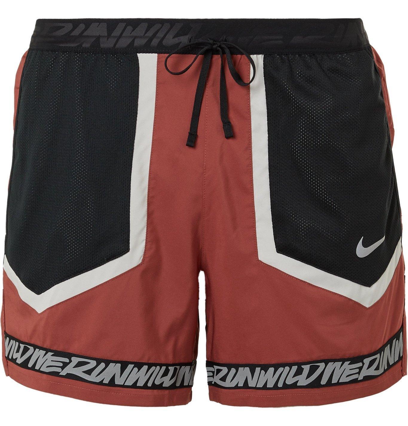 Nike Running - Flex Stride Wild Run Printed Running Shorts - Red