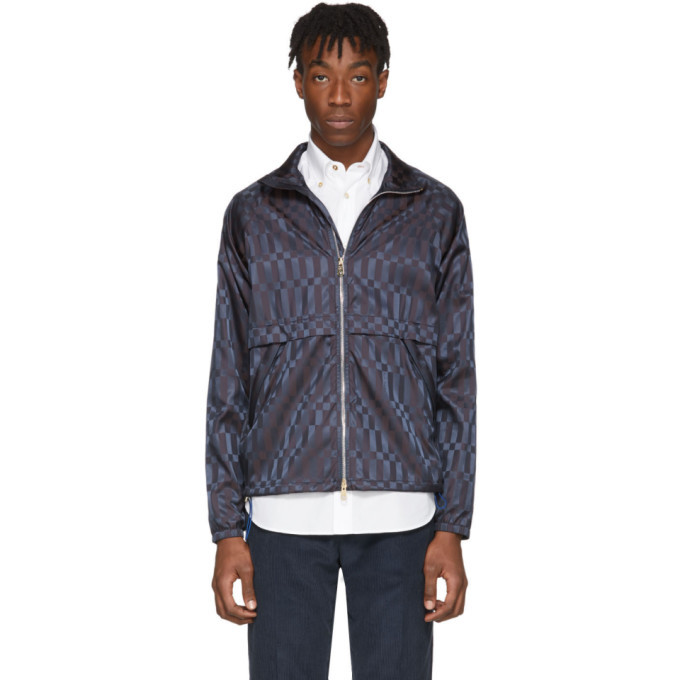 Photo: Paul Smith Navy Check Windbreaker Jacket