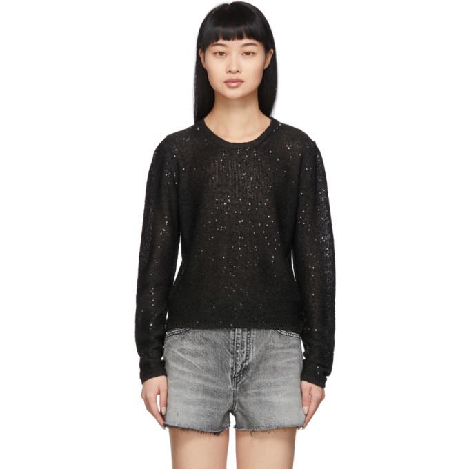 Photo: Saint Laurent Black Sequin Sweater