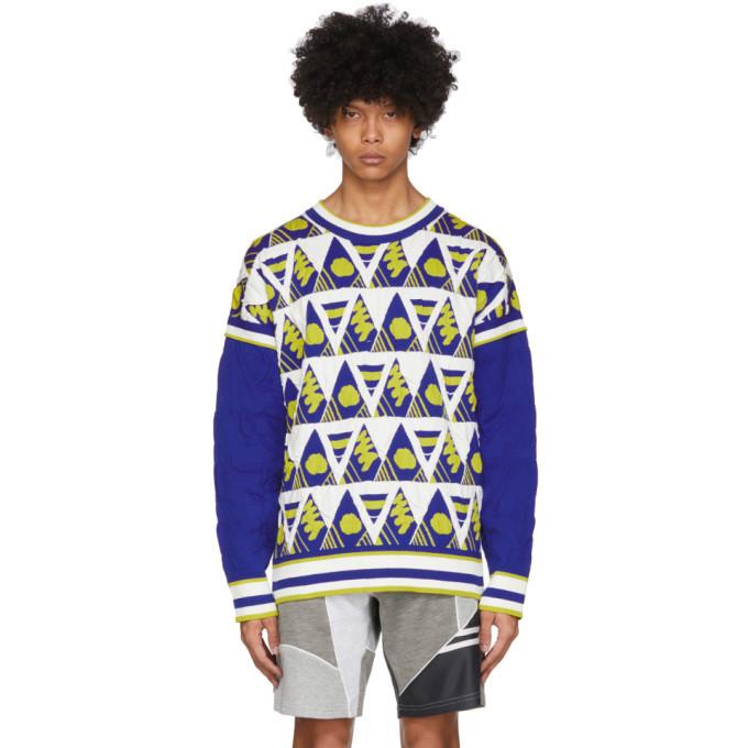 Photo: Ahluwalia Multicolor Triangle Knit Sweater
