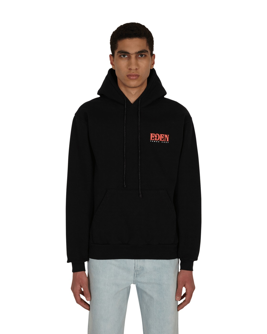 Eden Power Corp Eden Recycled Hooded Sweatshirt Black / Red