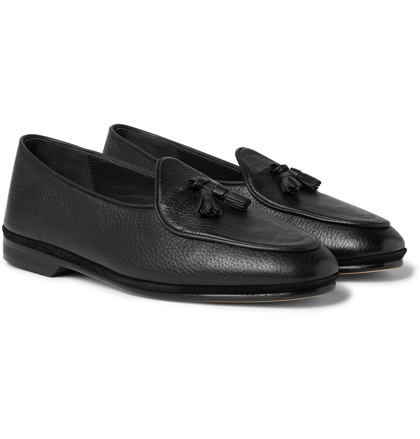 Photo: Rubinacci - Marphy Full-Grain Leather Tasselled Loafers - Black