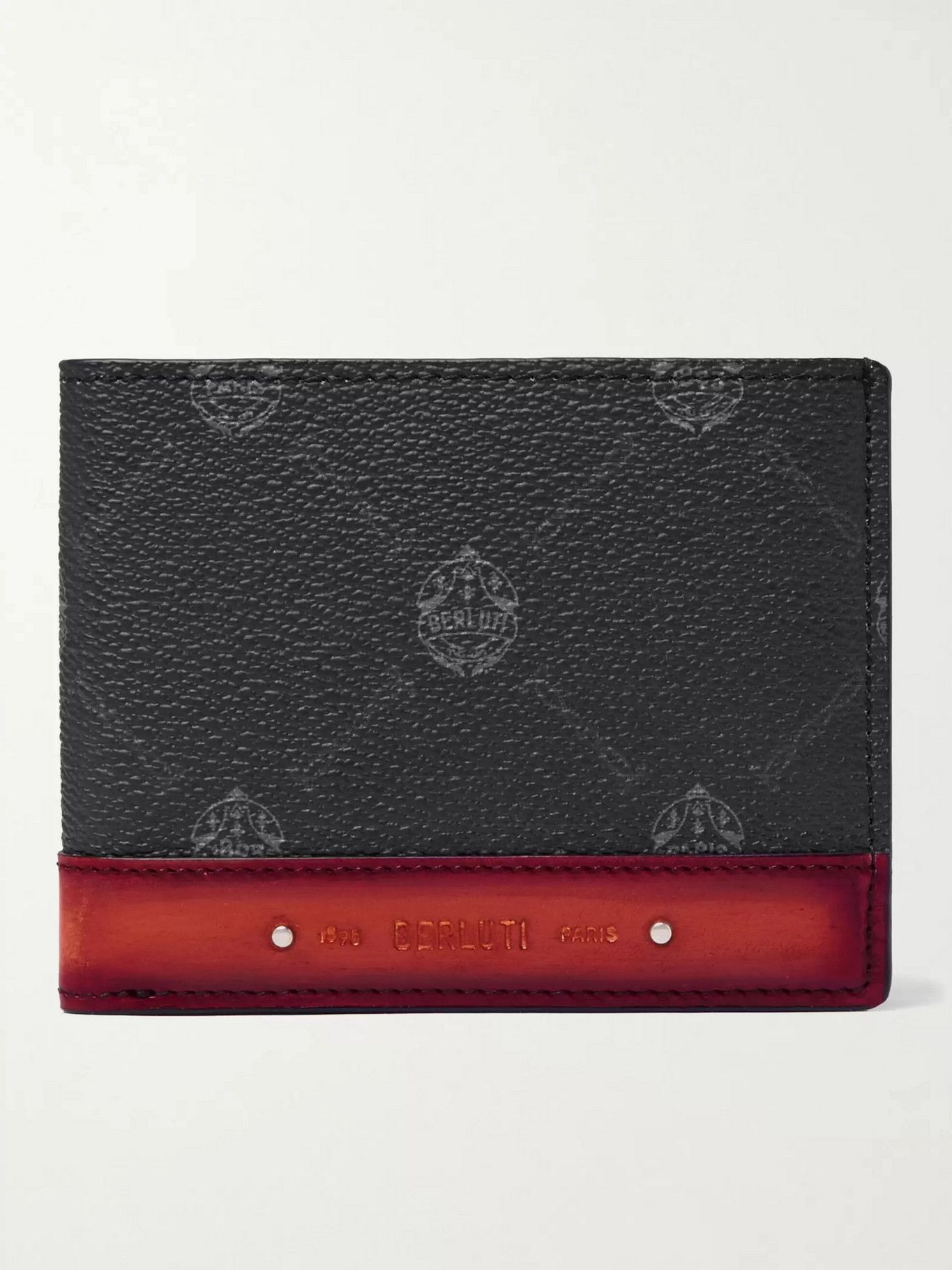 Photo: Berluti - Excursion Signature Logo-Print Canvas and Leather Billfold Wallet