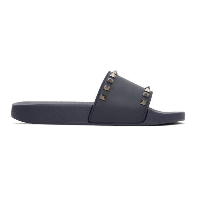 Photo: Valentino Navy Valentino Garavani Rockstud Sandals