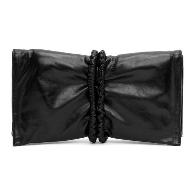 Photo: Bottega Veneta Black Padded Bifold Clutch