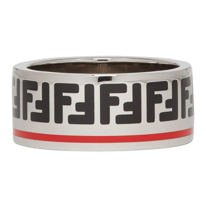 Photo: Fendi Silver Forever Fendi Band Ring