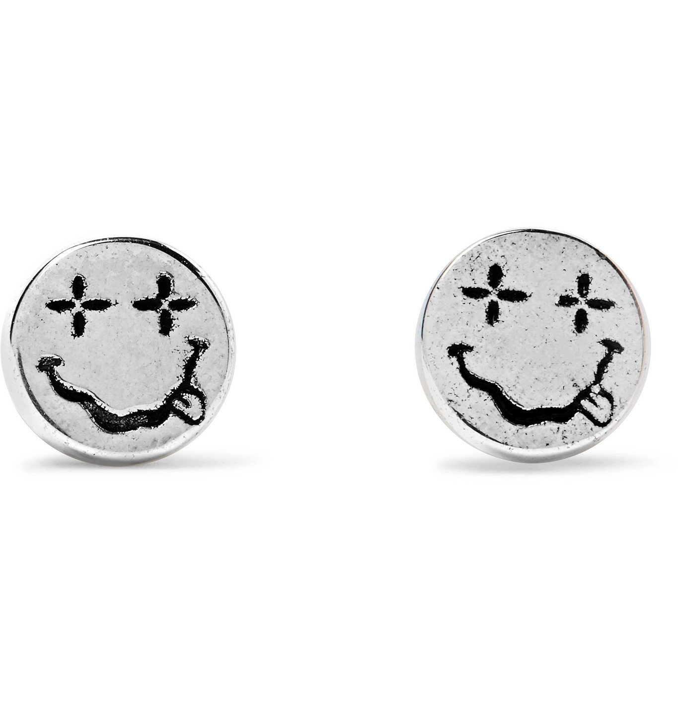 Photo: MAPLE - Nevermind Engraved Sterling Silver Earrings - Silver