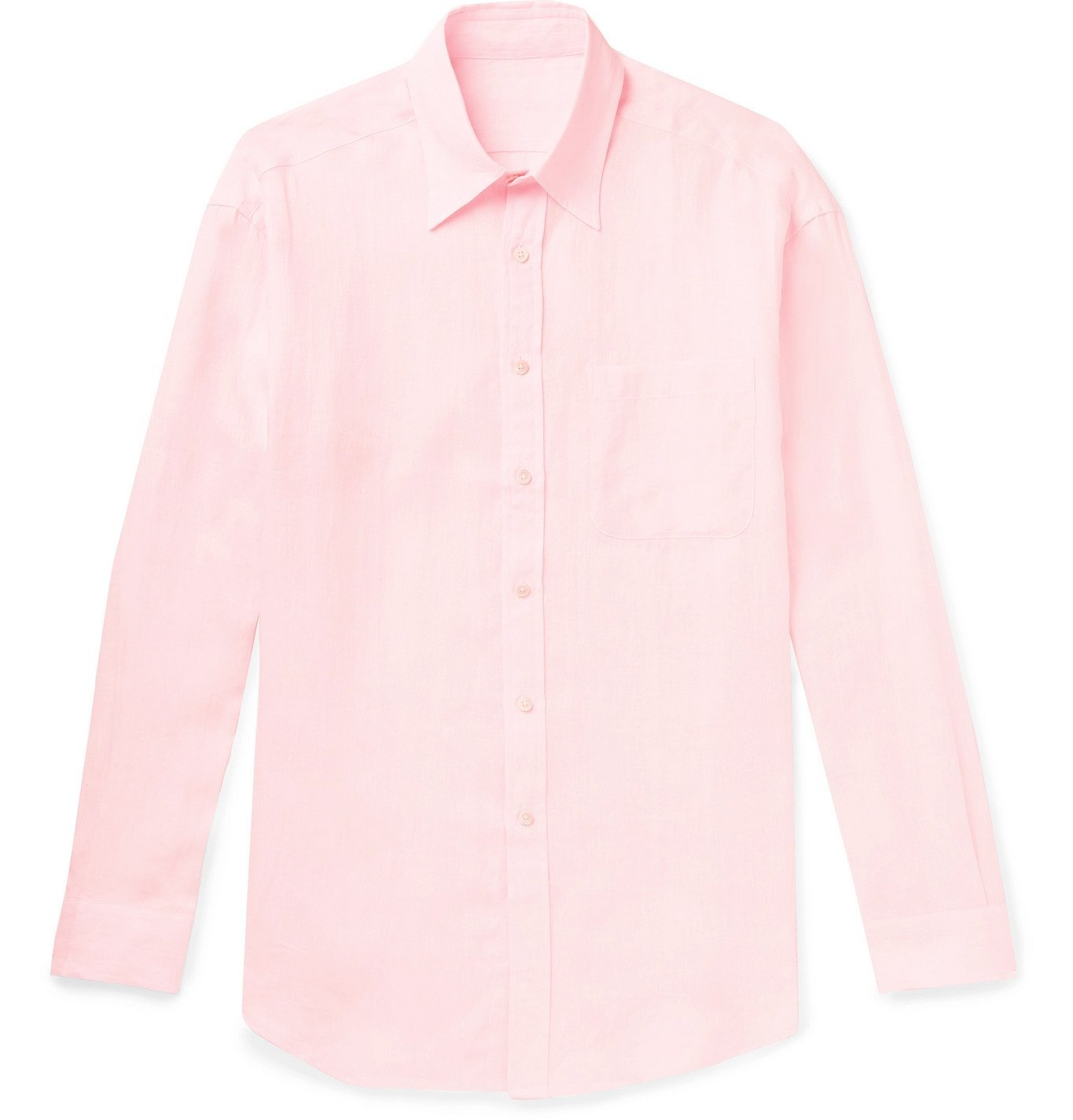 Photo: Anderson & Sheppard - Linen Shirt - Pink