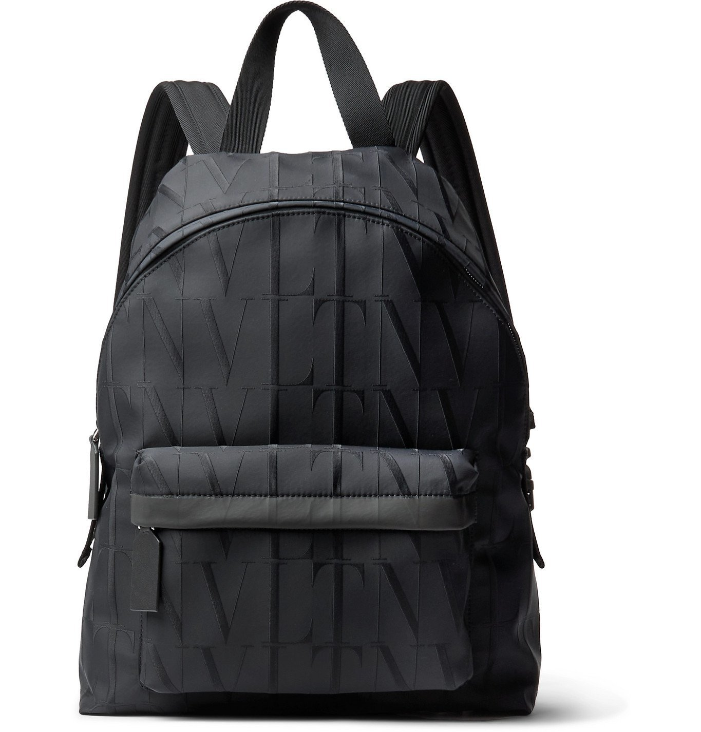 Photo: VALENTINO - Valentino Garavani Logo-Jacquard Nylon Backpack - Black