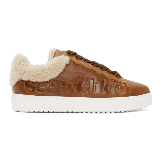 Photo: See by Chloe Brown Shearling Essie Sneaker