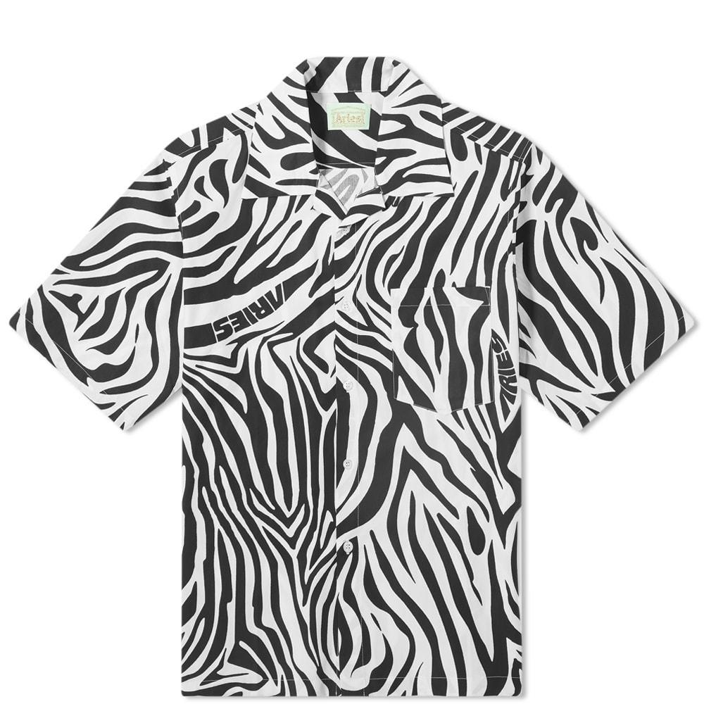 Aries Zebra Print Hawaiian Shirt