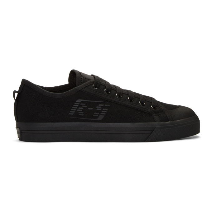 Photo: Raf Simons Black and Yellow adidas Originals Edition Spirit Low Sneakers
