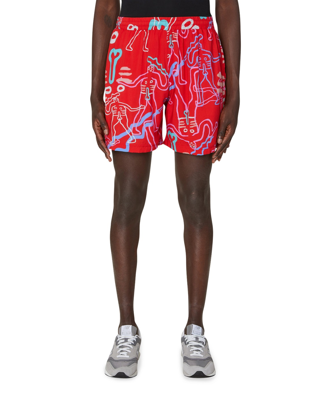 Aries Boards Shorts Red
