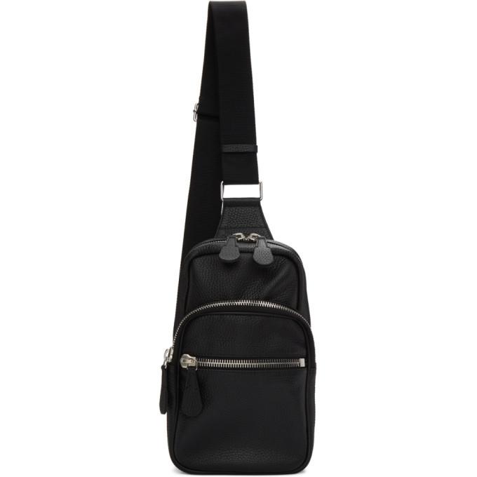 Photo: Maison Margiela Black Leather Crossbody Backpack
