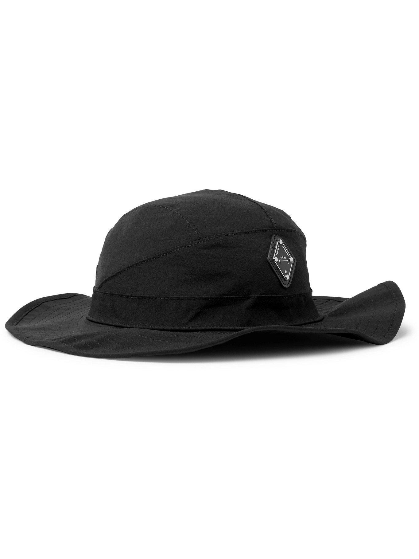 Photo: A-COLD-WALL* - Logo-Appliquéd Stretch-Nylon Bucket Hat - Black