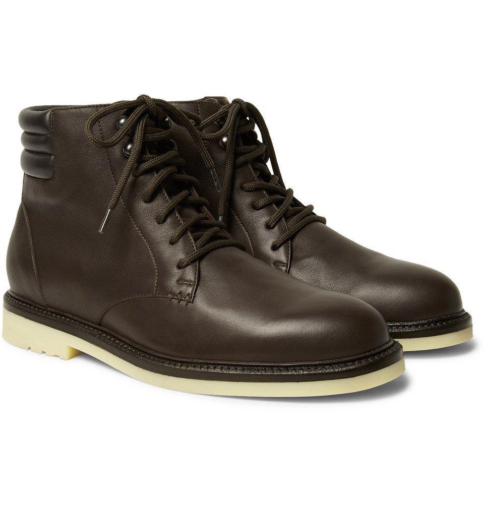 Photo: Loro Piana - Icer Walk Leather Boots - Chocolate