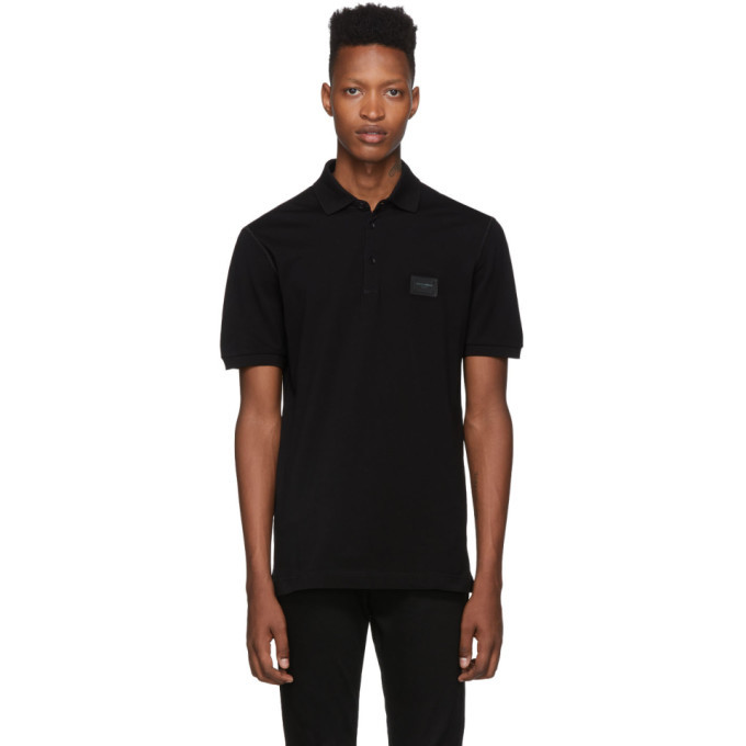 Photo: Dolce and Gabbana Black Plaque Polo