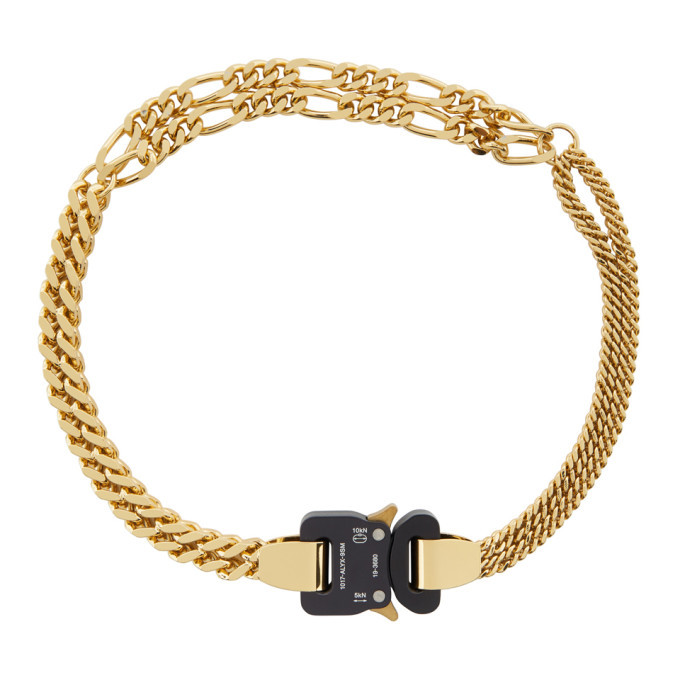Photo: 1017 ALYX 9SM Gold Triple Chain Buckle Necklace