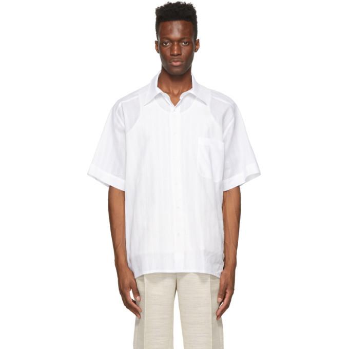 Photo: Botter White Cotton Grandpa Short Sleeve Shirt