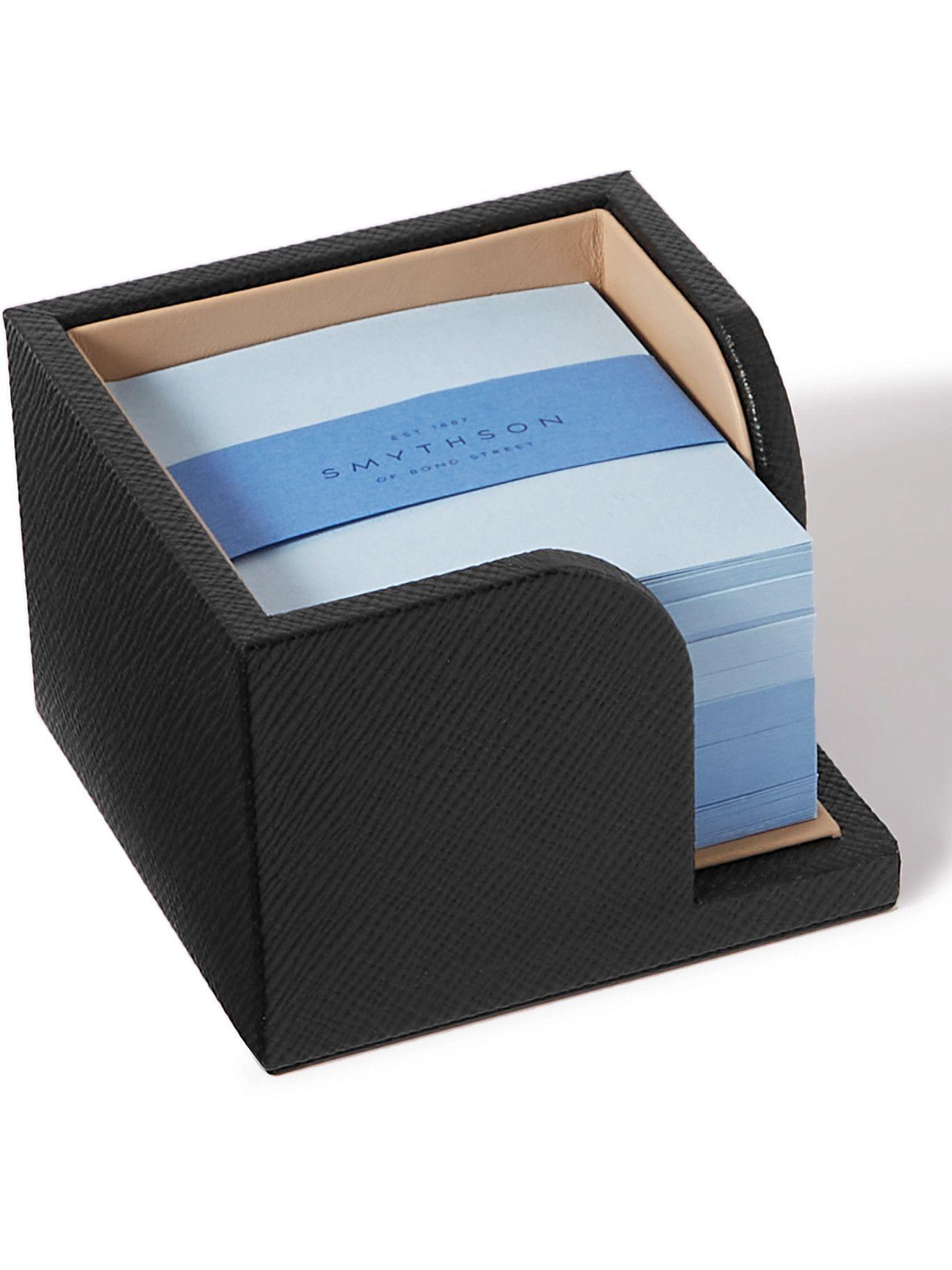 Photo: Smythson - Panama Cross-Grain Leather Memo Box