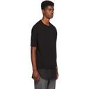 3.1 Phillip Lim Black Short Sleeve Poplin Hem Sweatshirt