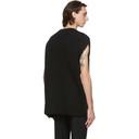 Raf Simons Black Wool Big Zip Cape