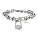 Raf Simons Silver Knot Safety Pin Bracelet