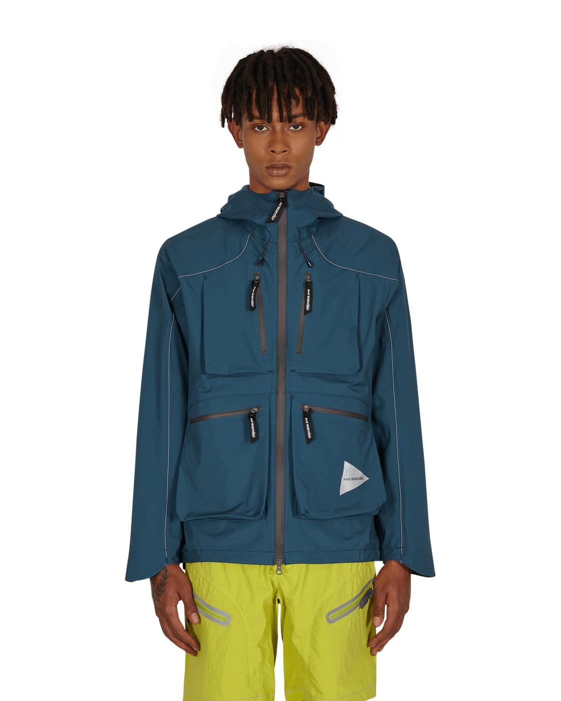 Photo: And Wander E Vent Rain Jacket Blue