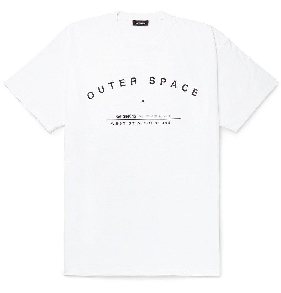 Raf Simons - Printed Cotton-Jersey T-Shirt - Men - White