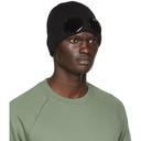 C.P. Company Black Cotton Goggle Beanie