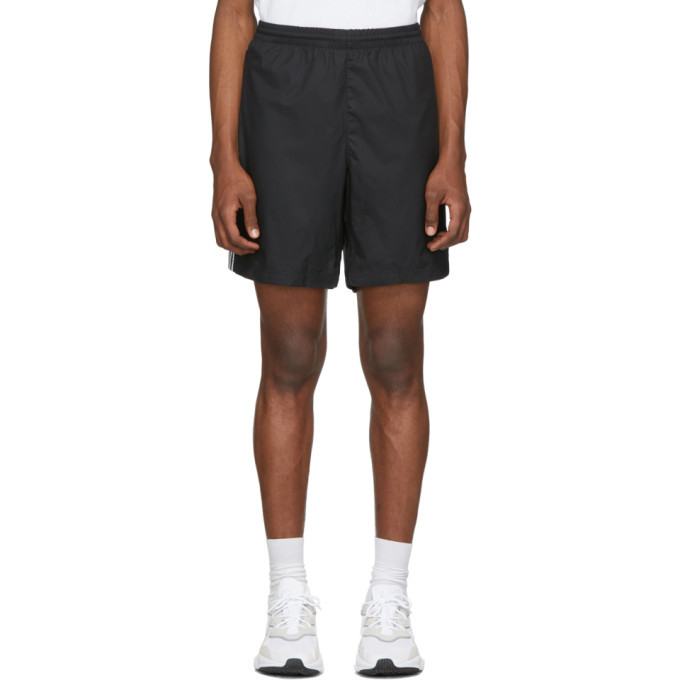 Photo: adidas Originals Black 3-Stripe Ripstop Shorts