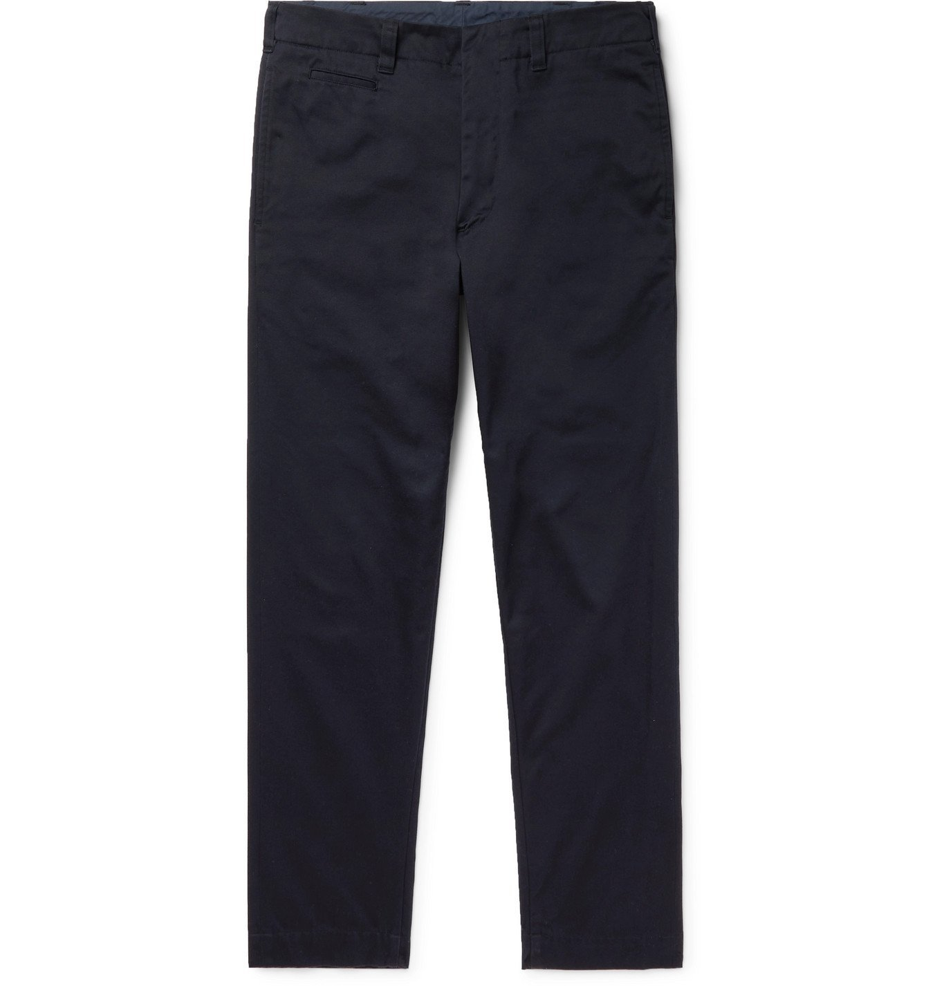 Photo: NANAMICA - Tapered Cotton-Blend Twill Chinos - Blue