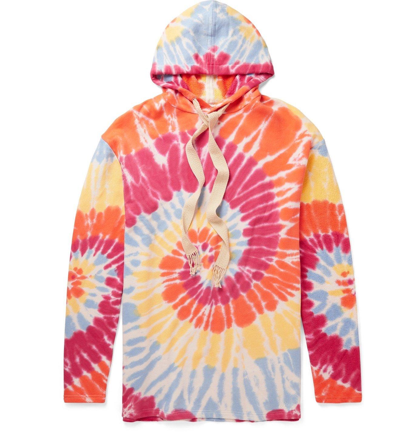 Photo: Loewe - Paula's Ibiza Tie-Dyed Fleece-Back Cotton-Jersey Hoodie - Orange