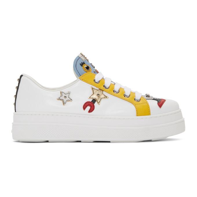 Prada White Robot Sneakers Prada