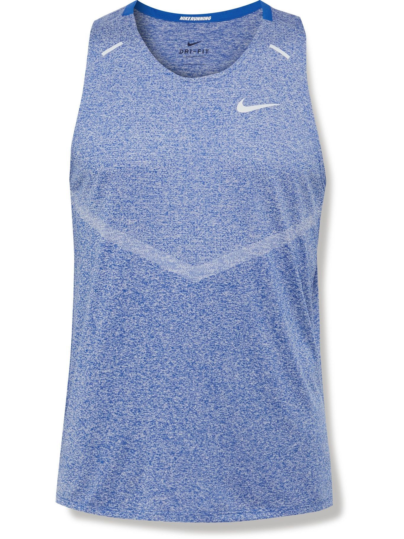 Photo: NIKE RUNNING - Rise 365 Recycled Dri-FIT Tank Top - Blue