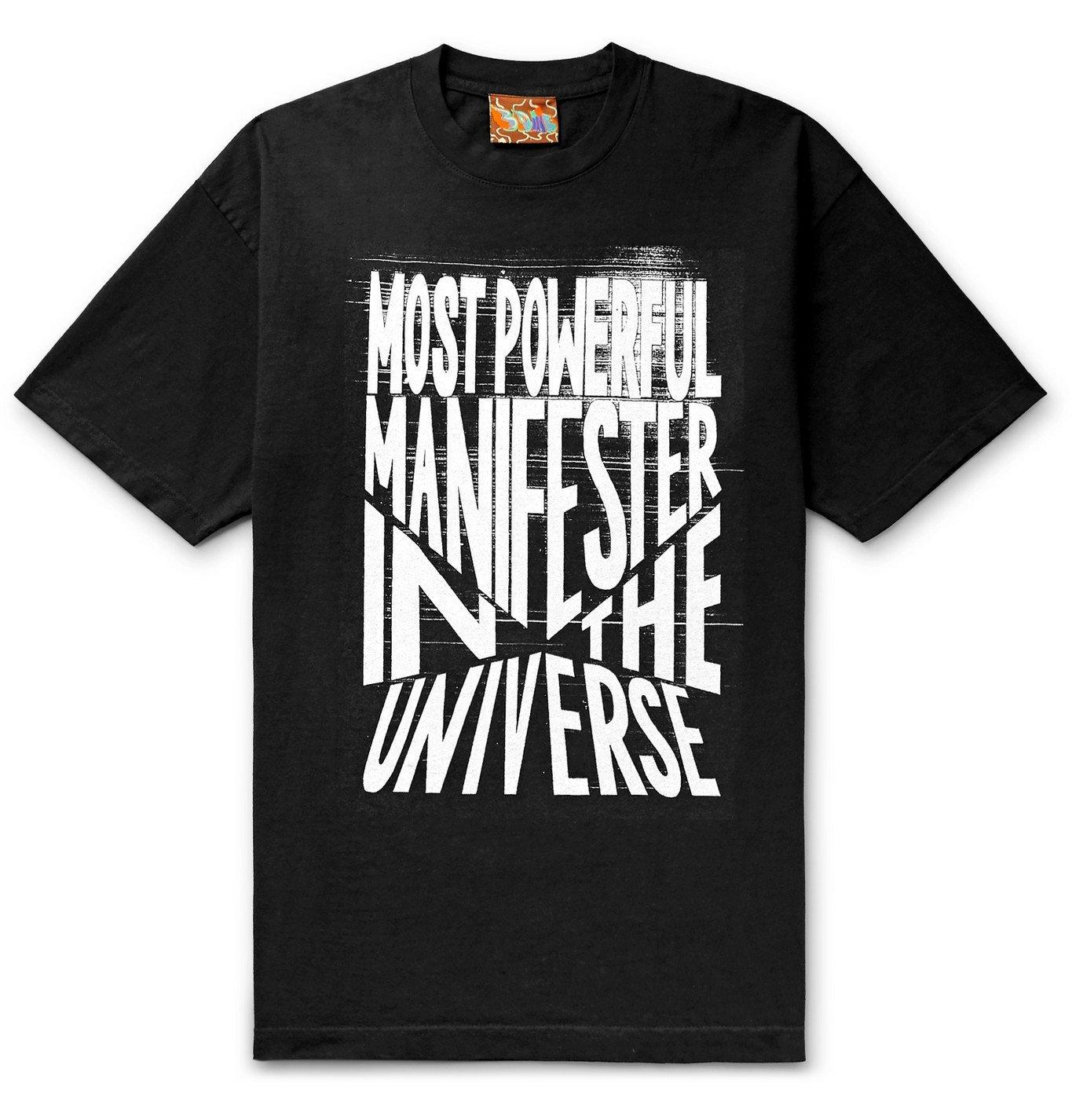 Photo: COME TEES - Logo-Print Cotton-Jersey T-Shirt - Black