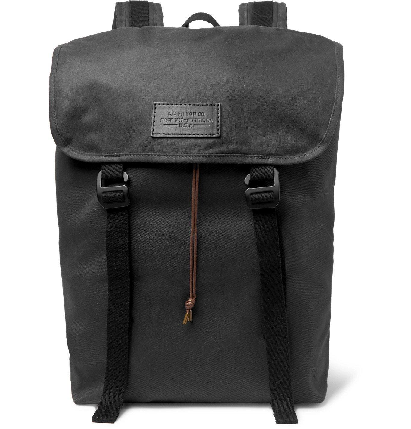 Photo: Filson - Ranger Twill Backpack - Black