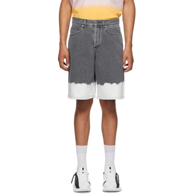 Photo: Givenchy Black and White Denim Two-Tone Shorts
