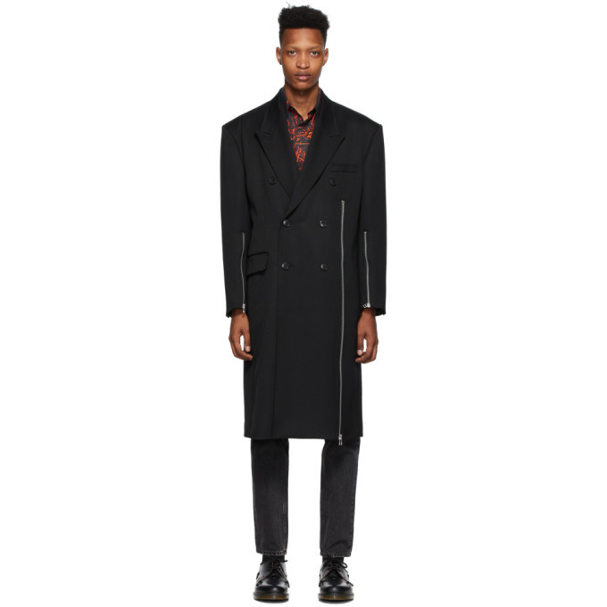 Photo: Johnlawrencesullivan Black Zip Double-Breasted Coat