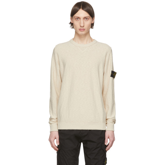 Photo: Stone Island Beige Knit Crewneck Sweater