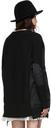 Sacai Black Paneled Cardigan