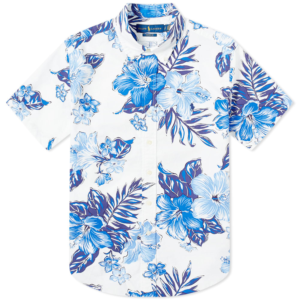 Photo: Polo Ralph Lauren Short Sleeve Button Down Hibiscus Oxford Shirt