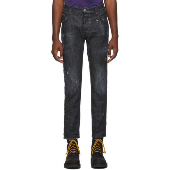 Photo: Dsquared2 Black Distressed Skater Jeans